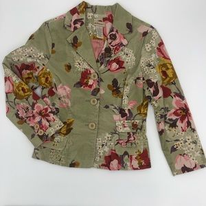 Anthropologie Elevenses floral blazer 6